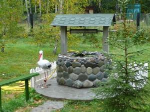 Как оформить колодец из бетонных колец?